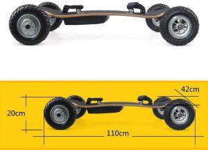 mountainboard Cxcboard Cruiser dimensions