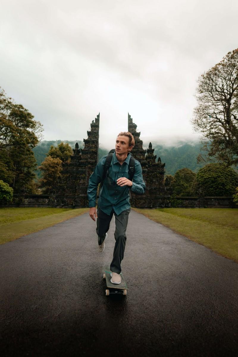 skate électrique route blond
