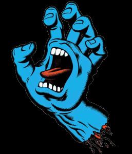screaming hand - main bleue santa cruz