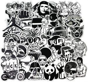 stickers skate noir et blanc
