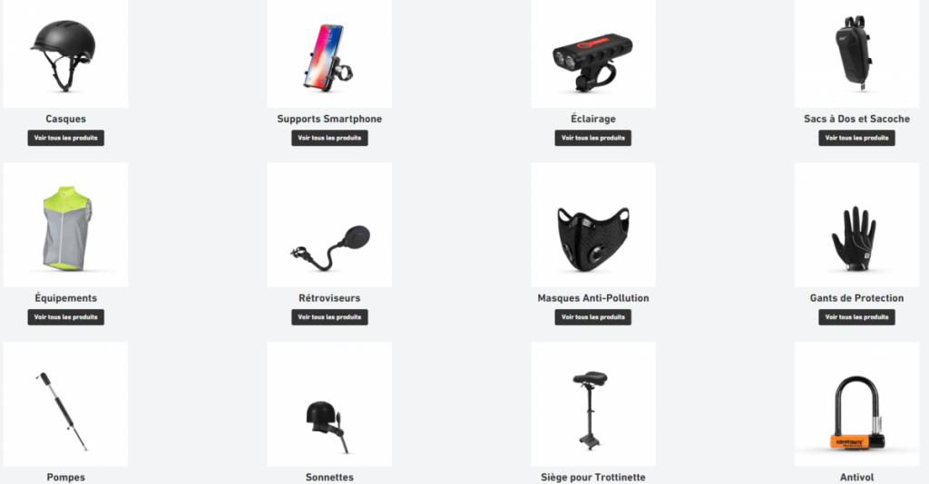 une panoplie d'accessoires sont disponible chez weebot